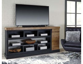 Signature Design by Ashley Tonnari Series XL TV Stand w/Fireplace Option in Two-tone Brown W715-68