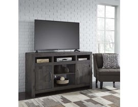 Signature Design by Ashley Mayflyn Series 62 inch TV Stand w/ Fireplace Option in Charcoal W729-68