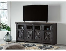 Signature Design by Ashley Tyler Creek Series 74 inch TV Stand in Black/Gray W736-68