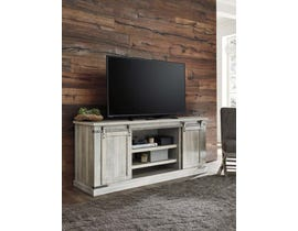 Signature Design by Ashley Carynhurst Series 70 inch TV Stand in Whitewash W755-68