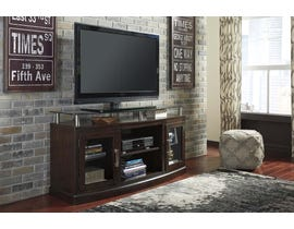 Signature Design by Ashley Chanceen Series 60 inch TV Stand w/ Fireplace Option in Dark Brown W757-48