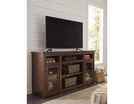 Signature Design by Ashley Harpan Series 72 inch TV Stand w/ Fireplace Option in Reddish Brown W797-68