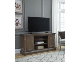Signature Design by Ashley Charmond Series XL TV Stand w/Fireplace Option in Brown W803-68