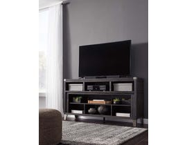 Signature Design by Ashley Todoe Series Large TV Stand w/Fireplace Option in Gray W901-68