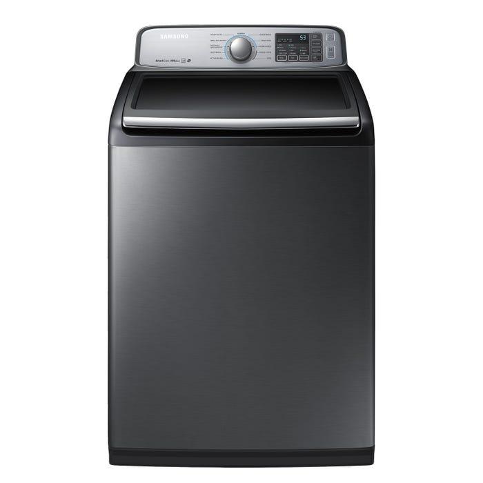 Samsung 5.8 cu.ft. top load washer in black WA50M7450AP
