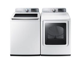 Samsung Laundry Pair 5.8 cu. ft. Washer WA50M7450AW & 7.4 cu. ft. Electric Dryer DVE50T7450W