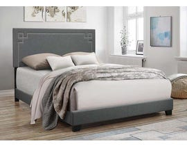 Felicita Series Queen Upholstered Bed in Grey 8088