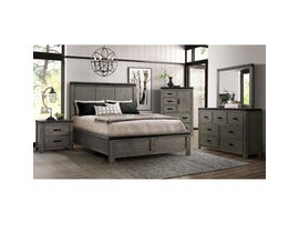 High Society Wade Series 6pc Queen Bedroom Set in Grey WE600