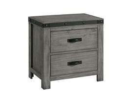 High Society Wade Collection Nightstand in Grey WE600