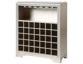 Avalon Distressed Wine Cabinet in Platinum WC1000-03