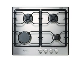 Whirlpool 24 inch Gas cooktop in stainless steel WCG52424AS