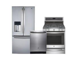 GE Profile 3pc Fridge Dishwasher Range Combo in Stainless Steel 97269/113532/112707