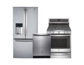 GE Profile 3pc Fridge Dishwasher Range Combo in Stainless Steel 97269/113532/112707