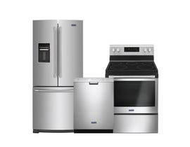 Maytag 3pc Fridge Dishwasher Range Combo in Stainless Steel 105665/115210/102598