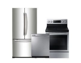Samsung 3pc Fridge Dishwasher Range Combo in Stainless Steel 94101/105316/95210