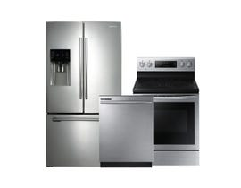 Samsung 3 PC French Door Fridge Stainless Steel Combo 77094-105316-94101