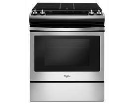 "Whirlpool 30"" 5.0 cu. ft. Front Control Gas Range in Stainless Steel WEG515S0FS"