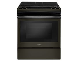 "Whirlpool 30"" 6.4 Cu. Ft. Self-Clean True Convection 5-Element Slide-In Electric Range in Black YWEE750H0HB"