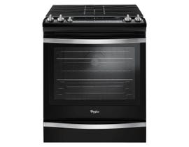 Whirlpool 30 inch 5.8 cu.ft. true convection Gas Range in Black Ice WEG745H0FE