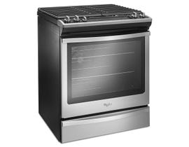 Whirlpool 30 inch 5.8 cu.ft. true convection Gas Range in stainless steel WEG745H0FS