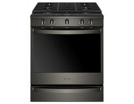 "Whirlpool 30"" 5.8 cu. ft. Smart Front Control Gas Range in Black Stainless Steel WEG750H0HV"