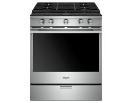 "Whirlpool 30"" 5-Burner Slide-In Gas Range in Stainless Steel WEGA25H0HZ"