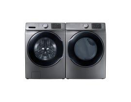 Samsung 5.2 cu.ft. Front Load Washer & 7.5 cu.ft dryer in Platinum WF45M5500AP/DVG45M5500P