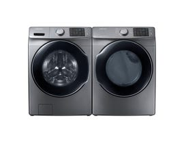 Samsung Front Load Steam Laundry Pair with Washer WF45M5500AP and Dryer DVE45M5500P