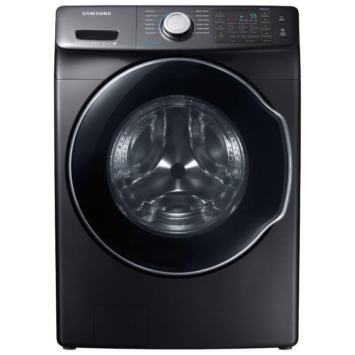 Samsung 27 inch 5.2 cu. ft. High Efficiency SuperSpeed Front Load Steam Washer in Inox WF45N6300AV