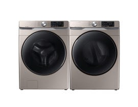Samsung Laundry Pair 5.2 cu. ft. Washer WF45R6100AC & 7.5 cu. ft. Electric Dryer DVE45T6100C