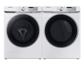 Samsung Laundry Pair 5.2 cu. ft. Washer WF45R6300AW & 7.5 cu. ft. Electric Dryer DVE45R6300W