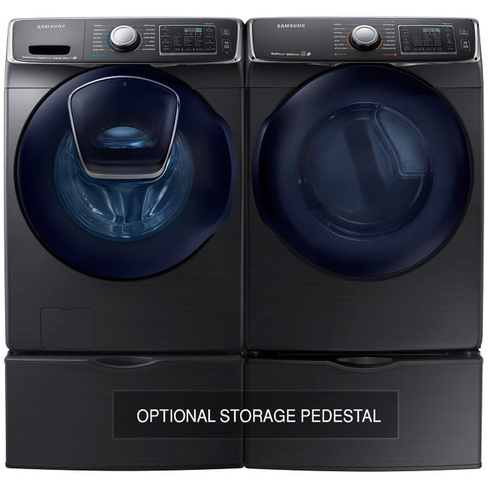 Samsung Front Load Laundry Pair with 5.8 cu.ft. Washer WF50K7500AV and  7.5 cu.ft. Electric Dryer DV50K7500EV