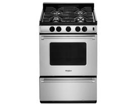 Whirlpool 24 inch  3.0 cu. ft. Free Standing Gas Range in Stainless Steel WFG500M4HS