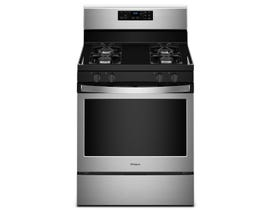 "Whirlpool 30"" 5.0 cu. ft. Freestanding Gas Range with Adjustable Self-Cleaning in Stainless Steel WFG510S0HS"