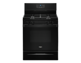 "Whirlpool 30"" 5.0 cu. ft. Gas Range with SpeedHeat Burner in Black WFG515S0JB"