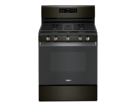 "Whirlpool 30"" 5.0 cu. ft. Gas Range with Convection Oven in Black Stainless Steel WFG535S0JV"