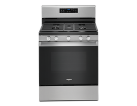 "Whirlpool 30"" 5.0 cu. ft. Gas Range with Convection Oven in Stainless Steel WFG535S0JZ"