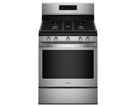 "Whirlpool 30"" 5.0 cu. ft. Freestanding Gas Range with Fan Convection Cooking in Stainless Steel WFG550S0HZ"