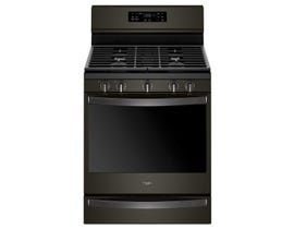 Whirlpool 30 inch 5.8 cu.ft. Gas Range Freestanding with Self-Clean Convection & 5-Burner in Black Stainless WFG775H0HV