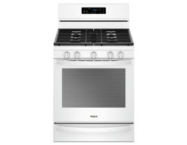 "Whirlpool 30"" 5.8 Cu. Ft. Self-Clean Convection 5-Burner Free-Standing Gas Range in White WFG775H0HW"