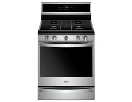 "Whirlpool 30"" True Convection 5-Burner Free-Standing Gas Range in Stainless Steel WFG975H0HZ"