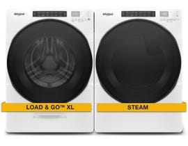 Whirlpool Laundry Pair 5.2 cu. ft. Washer WFW6620HW & 7.4 cu. ft. Electric Dryer YWED6620HW
