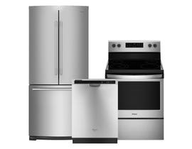 Whirlpool 3-Pc Appliance Package in Stainless 109770/109769/092193