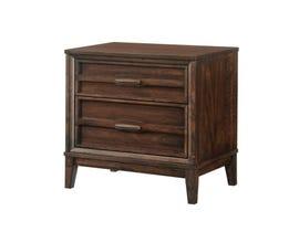 New Classic Home Furnishings Windsong  Nightstand in Walnut B856
