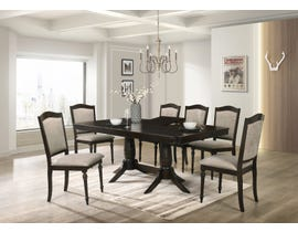 Cosmos Windsor Series 7pc Dining Set with Extending Leaf in Dark Cappuccino