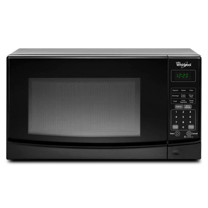 Whirlpool 19 inch 0.7 cu. ft. Countertop Microwave with Electronic Touch Control in black WMC10007AB