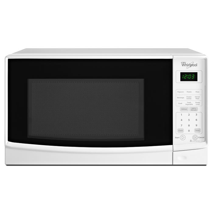 Whirlpool 18 inch 0.7 cu. ft. Counter top Microwave with Electronic Touch Controls in white WMC10007AW