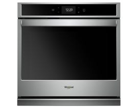 Whirlpool 30 inch 5.0 cu. ft. Smart Single Wall Oven with True Convection in Stainless Steel WOS72EC0HS