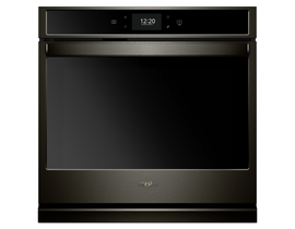 "Whirlpool 27"" 4.3 cu. ft. Smart Single Wall Oven with True Convection Cooking in Black Stainless Steel WOS72EC7HV"