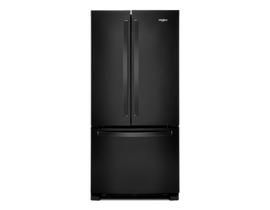 Whirlpool 33 inch 22 cu. ft. French Door Refrigerator in Black WRF532SMHB